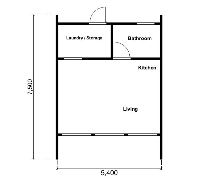 A Frame Kit Homes 1 Bedroom with loft by BRIbuild