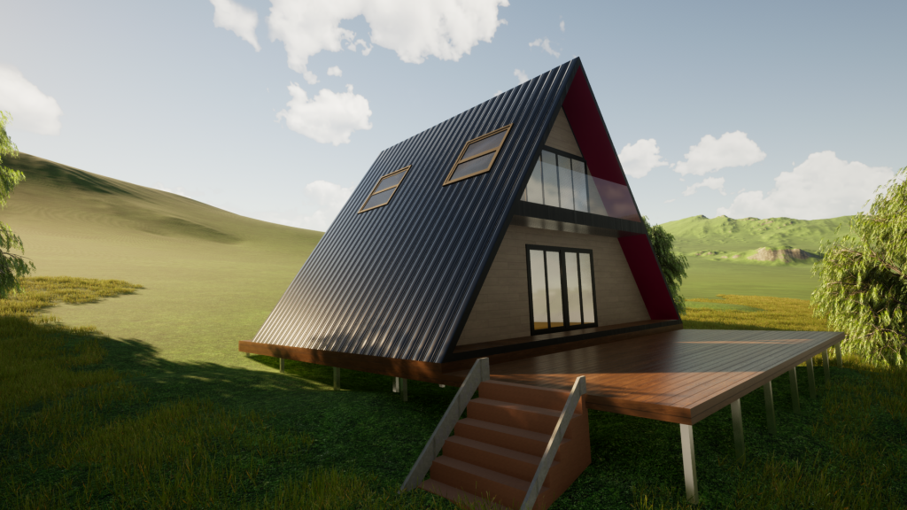 A-Frame Kit Homes Australia by BRIbuild